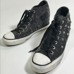 Converse Chuck Taylor AS Wedge Heel Studded 8.5